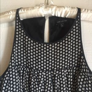 The Limited Silk Polka Dot Baby Doll Dress